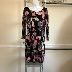 IVANKA TRUMP Black Floral Dress M